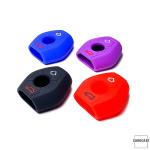 Silikon Schutzhülle / Cover passend für BMW Autoschlüssel B2 rot