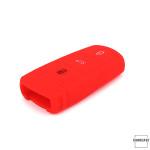 Silicone key case/cover for Volkswagen remote keys red SEK1-V6-3