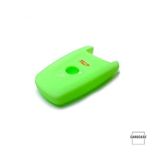 Silicone key case/cover for BMW remote keys luminous green SEK1-B4-8
