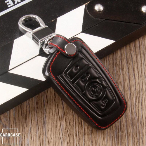 Leather key fob cover case fit for BMW B4, B5 remote key