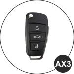 Leder Schlüssel Cover passend für Audi Schlüssel  LEUCHTEND! LEK2-AX3