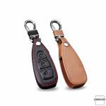 Coque / Housse Clé télécommande en cuir Voiture incl. mousquetons pour Ford brun LEK1-F5-2