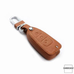 Leather key case/cover incl. keychain for Ford remote key