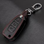 Coque / Housse Clé télécommande en cuir Voiture incl. mousquetons pour Ford  LEK1-F4