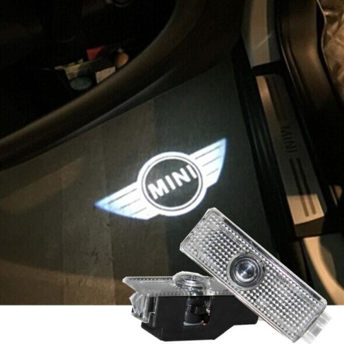 LED Welcome sign / Car Styling Door LED Badge MINI Logo mit Kreis