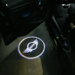 MINI LED Autotür Willkommenslicht Beleuchtung Logo Projektor / Laserlicht R55 R56 R60 F55 F56 (1 Set - 2 Stück) MINI Logo mit Kreis