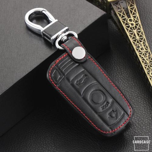 Cover Guscio / Copri-chiave Pelle compatibile con BMW B3, B3X nero
