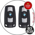 Leder Schlüssel Cover passend für BMW Schlüssel B3, B3X schwarz