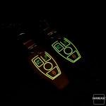 Luminous glow leather key case/cover for Mercedes-Benz car keys