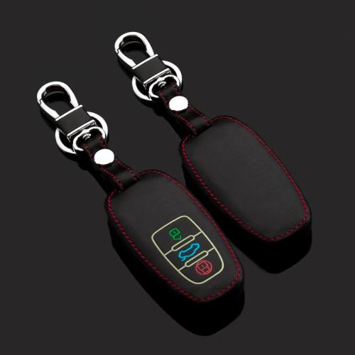 Cuero funda para llave de Audi AX4 negro