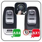 Lumineux coque/housse de clé en cuir pour Audi Voiture noir