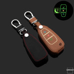 Luminous glow leather key case/cover for Ford car keys