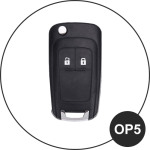 Luminous glow leather key case/cover for Opel car keys black