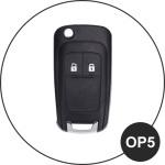 Leder Schlüssel Cover passend für Opel Schlüssel braun LEUCHTEND! LEK2-OP5-2