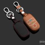 Leder Schlüssel Cover passend für Kia Schlüssel  LEUCHTEND! LEK2-K7