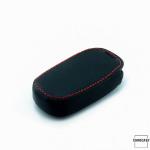 Luminous glow leather key case/cover for Kia car keys black