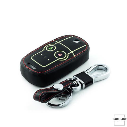 Coque de protection en cuir pour voiture Honda clé télécommande H5 brun