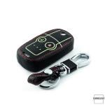 Leder Schlüssel Cover passend für Honda Schlüssel braun LEUCHTEND! LEK2-H5-2