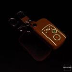Luminous glow leather key case/cover for Honda car keys