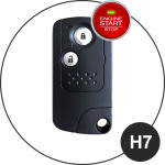 Leder Schlüssel Cover passend für Honda Schlüssel  LEUCHTEND! LEK2-H7