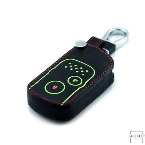 Coque de protection en cuir pour voiture Honda clé télécommande H7 noir