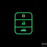 Luminous glow leather key case/cover for Honda car keys black