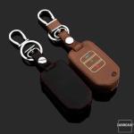 Leder Schlüssel Cover passend für Honda Schlüssel braun LEUCHTEND! LEK2-H10-2
