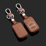 Luminous glow leather key case/cover for Honda car keys brown