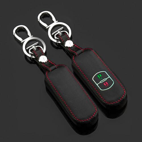 Cuero funda para llave de Mazda MZ1 negro