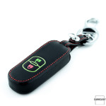 Luminous glow leather key case/cover for Mazda car keys black