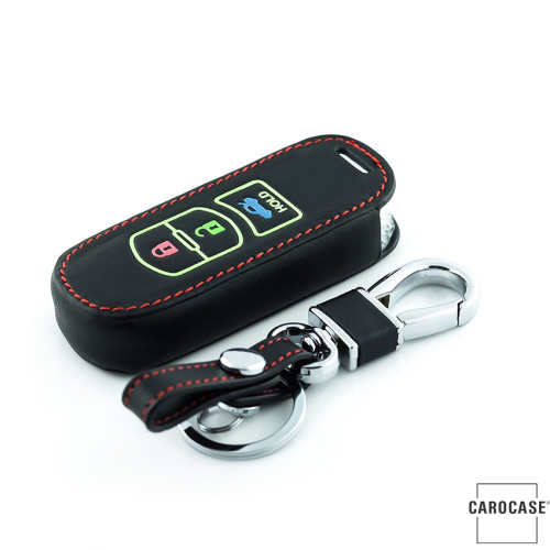 Lumineux coque/housse de clé en cuir pour Mazda Voiture