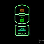 Leder Schlüssel Cover passend für Mazda Schlüssel  LEUCHTEND! LEK2-MZ2
