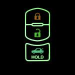 Leder Schlüssel Cover passend für Mazda Schlüssel schwarz LEUCHTEND! LEK2-MZ2-1