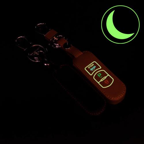 Cover Guscio / Copri-chiave Pelle compatibile con Mazda MZ2 marrone