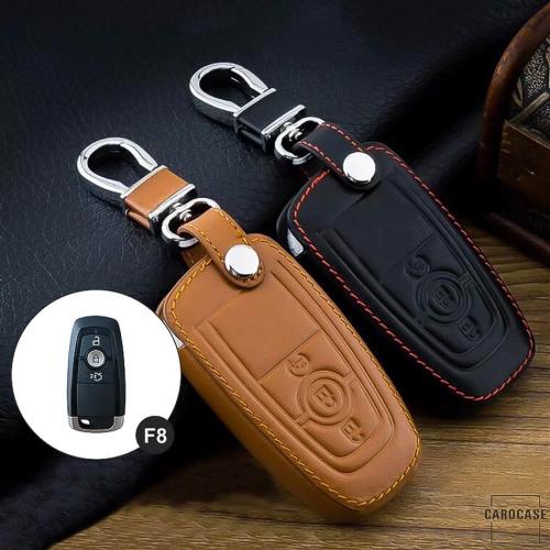Leder Schlüssel Cover passend für Ford Schlüssel F8