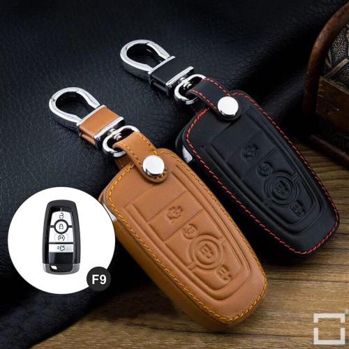 Leder Schlüssel Cover passend für Ford Schlüssel F9