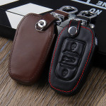 Leather key case/cover incl. keychain for Opel, Citroen, Peugeot remote key