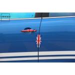 Stylischer silikon Kantenschutz für MINI Türen Union Jack Flag (rot/blau)