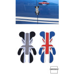 MINI silicon door protection Union Jack Flag (black/grey)