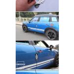 Stylischer silikon Kantenschutz für MINI Türen Union Jack Flag (schwarz/grau)