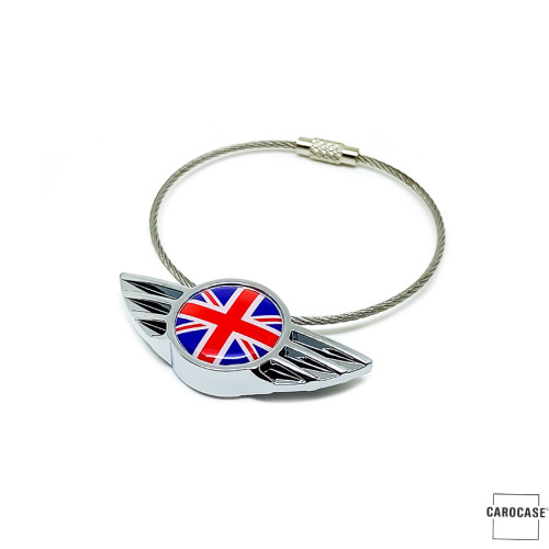 Keychain for MINI Union Jack Flag (red/blue)