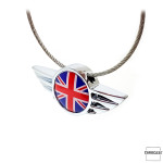 WINGS keychain porte-clés pour MINI Union Jack Flag (rouge/bleu)