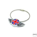 Keychain for MINI Union Jack Flag (black/grey)