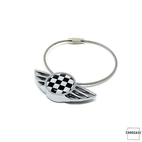 WINGS keychain porte-clés pour MINI Checkered Flag (noir/blanc)