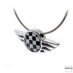 Keychain for MINI Checkered Flag (black/white)