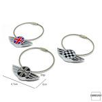 Wings Schlüsselanhänger für MINI Checkered Flag (schwarz/weiß)