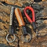 Bracelet en cuir avec coutures accentuées