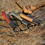 Schlüsselanhänger aus echtem Premium Leder dunkelbraun SAR5-6