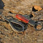 Schlüsselanhänger aus echtem Premium Leder hellbraun SAR5-5