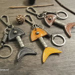 Leather keychain by CaroCase